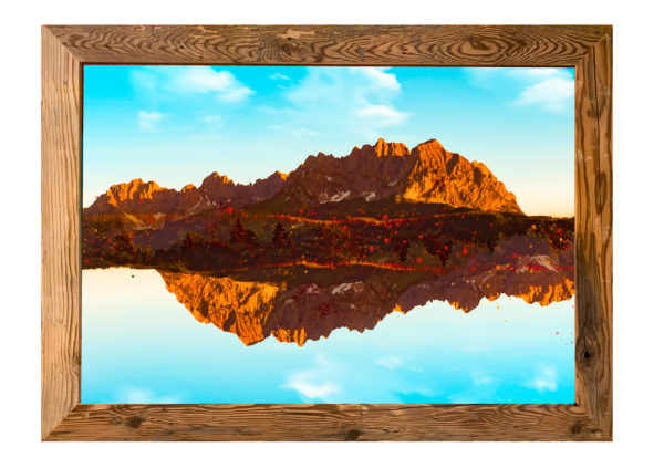 Wandbild mit Holzrahmen - 0