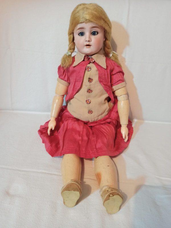 Bisquitporzellan Kugelgelenk Puppe 69 cm - 0